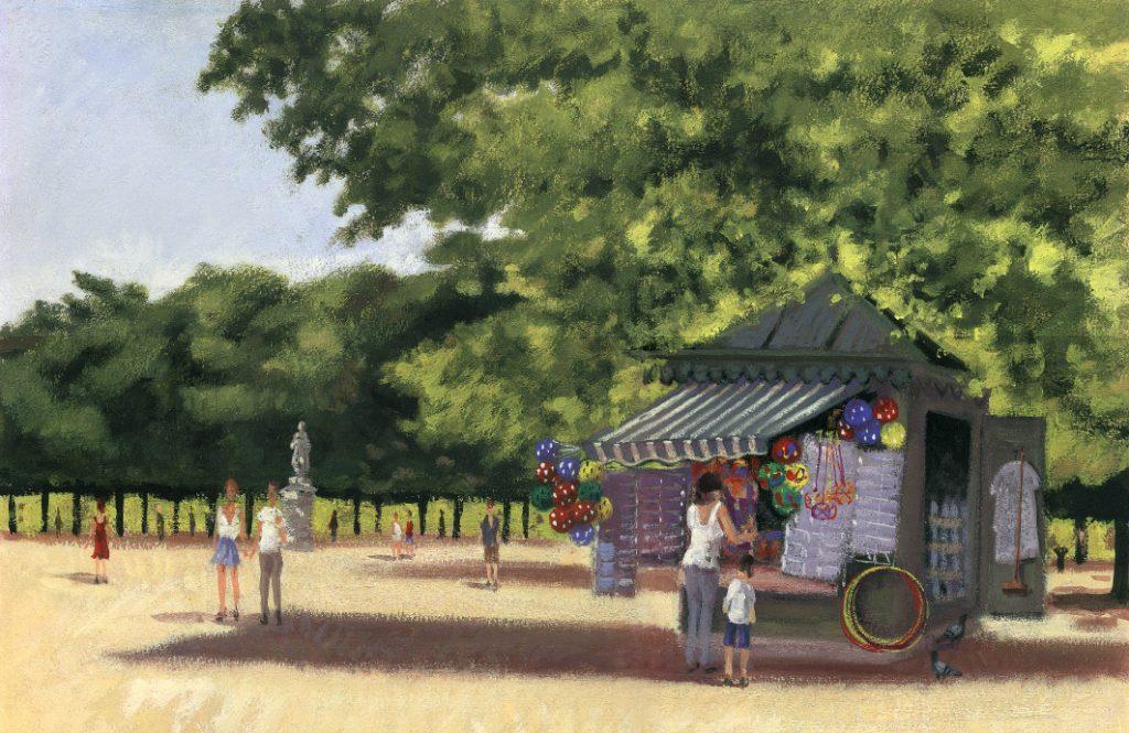 Kiosque au jardin du luxembourg place to paint - Comment aller au jardin du luxembourg ...
